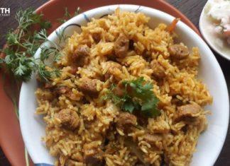 Soya Chunks Pulao-Karth Food Factory